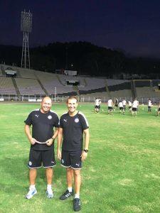 El DT Mauro Caballero junto a su Asistente Técnico Luis Monzón.