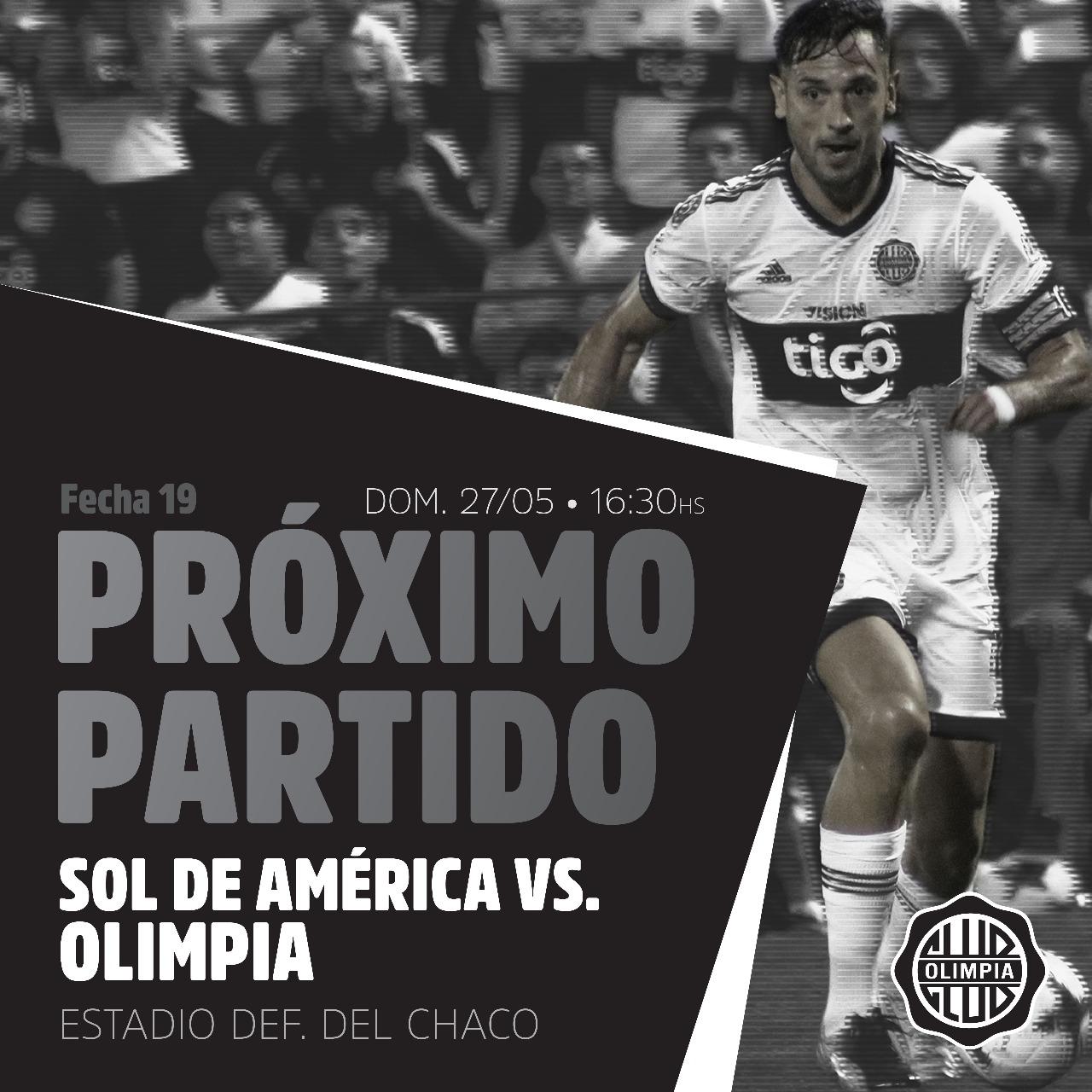 Ficha Sol de Amèrica v Olimpia